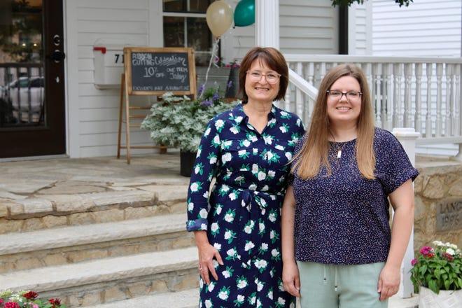 Becky Floyd, left, and Emily Wellskopf have opened Birchwood Wells in Delafield.