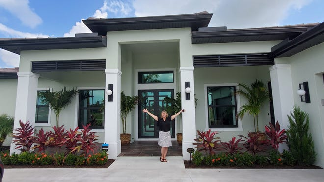 Becky Dolan at her new HGTV Smart Home in Naples.