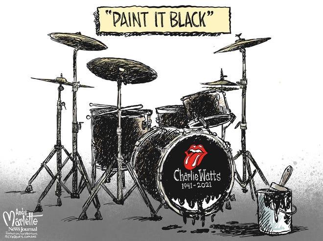 Marlette cartoon: Farewell to legendary Rolling Stones drummer, Charlie Watts