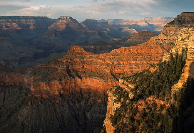 Sunset at Yavapai Point in Grand Canyon National Park.