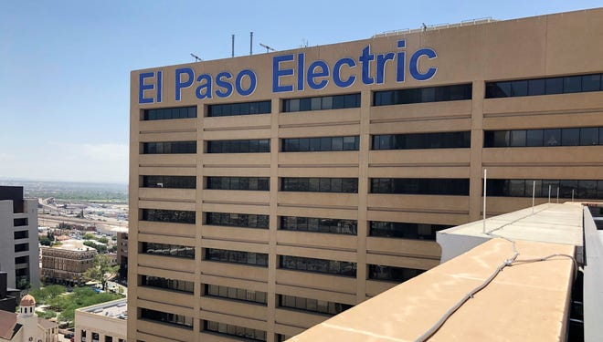 El Paso Electric's Downtown headquarters as seen from the next-door Blue Flame Building's 17th-floor balcony.