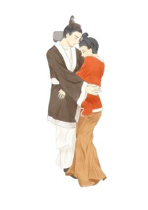 """Gráfico en un artículo del International Journal of Osteoarthritis """"Amor eterno encerrado en un abrazo y sellado con un anillo: el entierro conjunto de una pareja de Xianboy en la era Wei del Norte de China (386-534 EC)"""""""