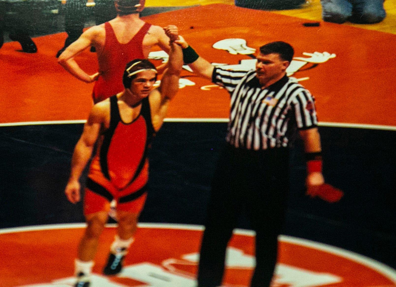 Lambros Fotos spent the summer of 2001 honing his skills as a wrestler.