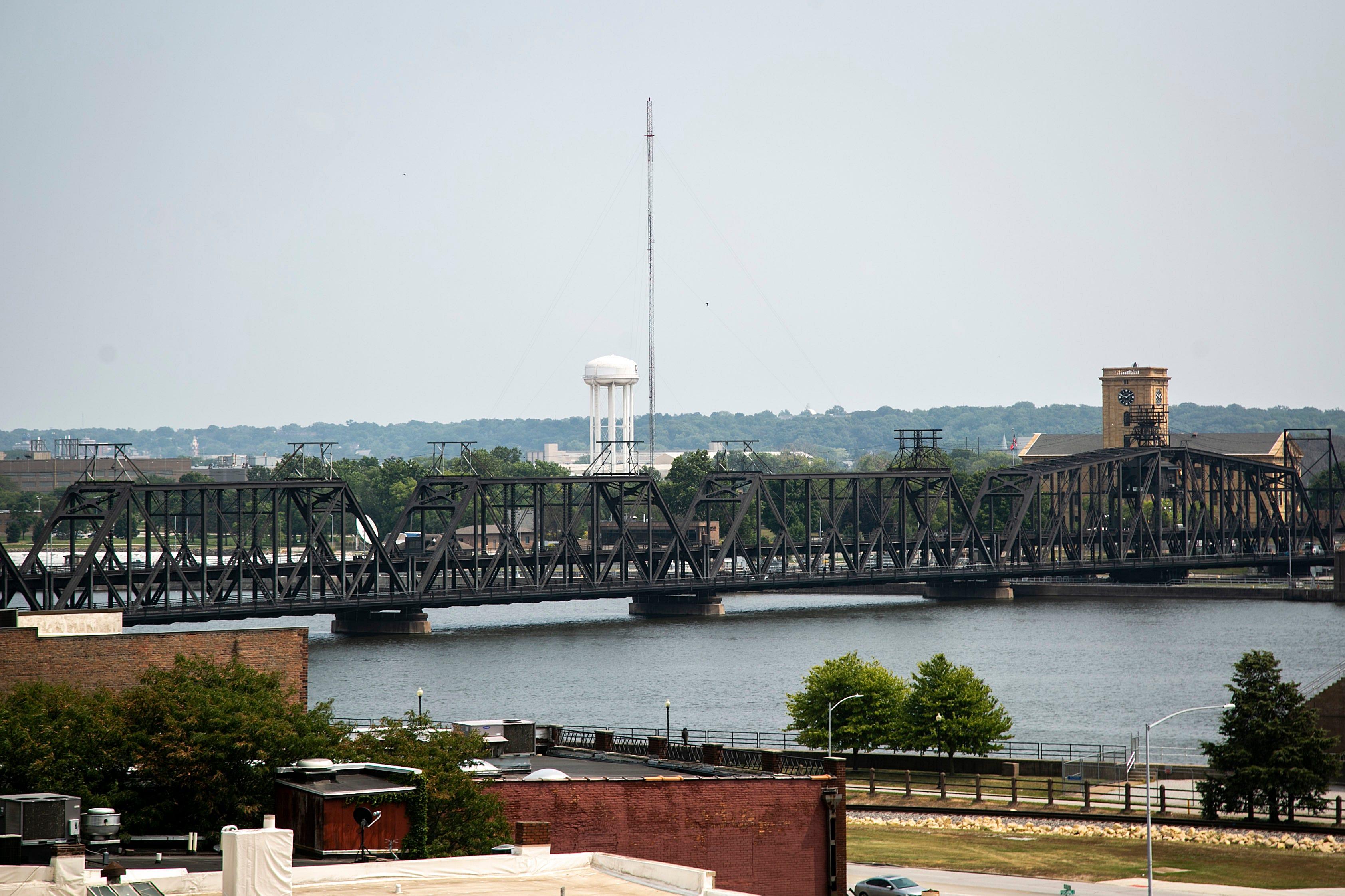 Mississippi River in Davenport, Iowa.