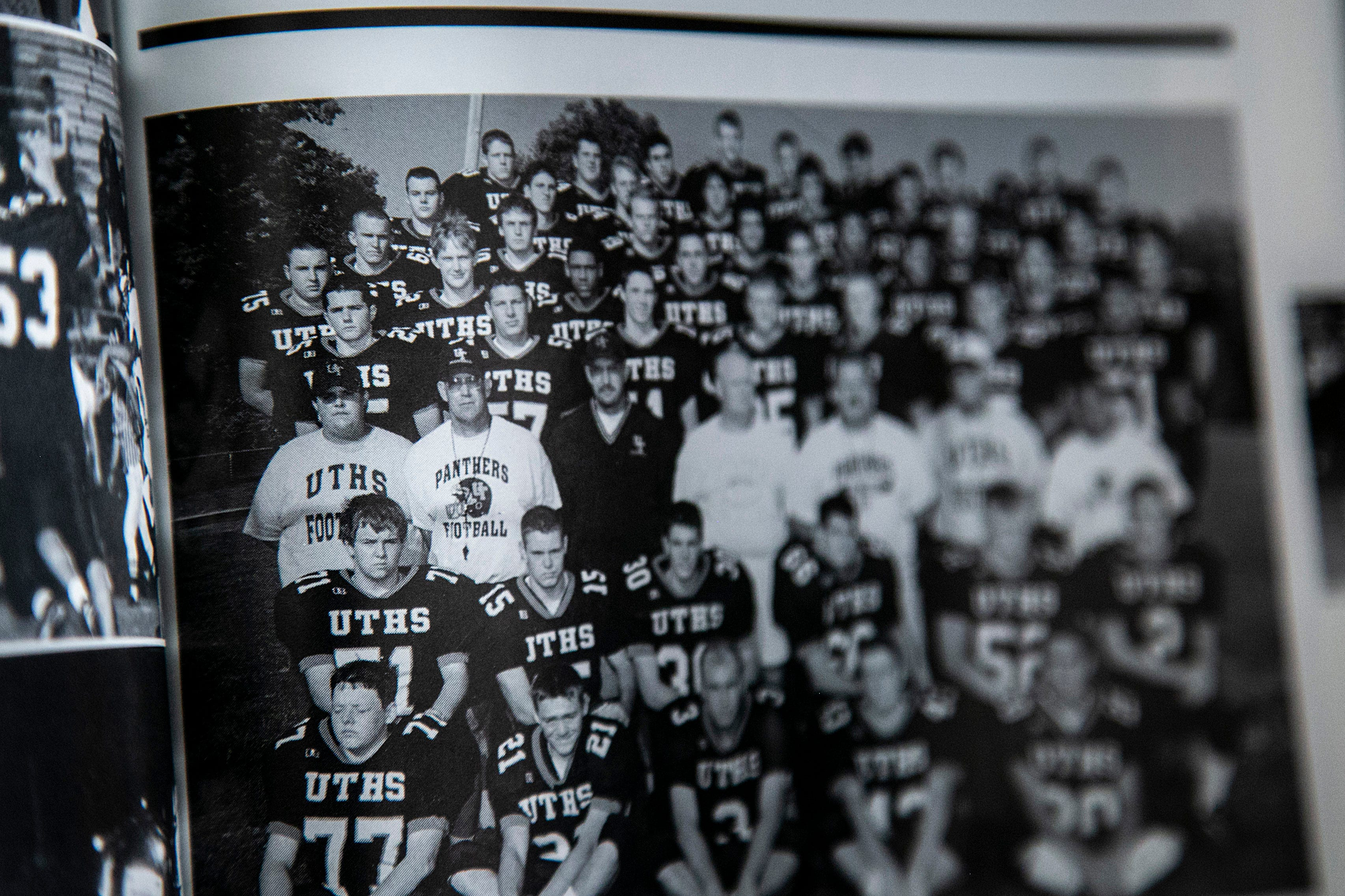 Andy Hughes played football in 2001 at United Township High School.