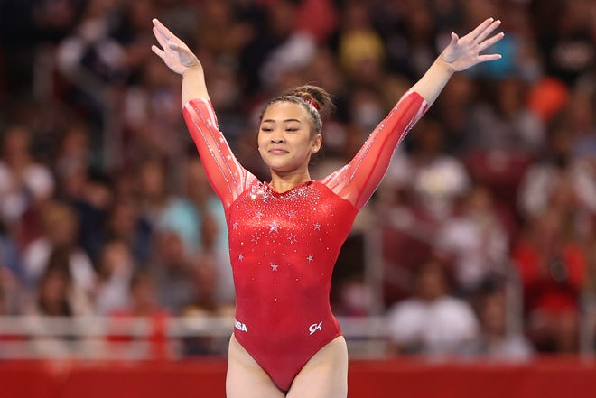 """Olympic gymnastics superstar Suni Lee moves from Olympics-medal glory to competing for the mirrorball trophy on ABC's """"Dancing With the Stars."""""""