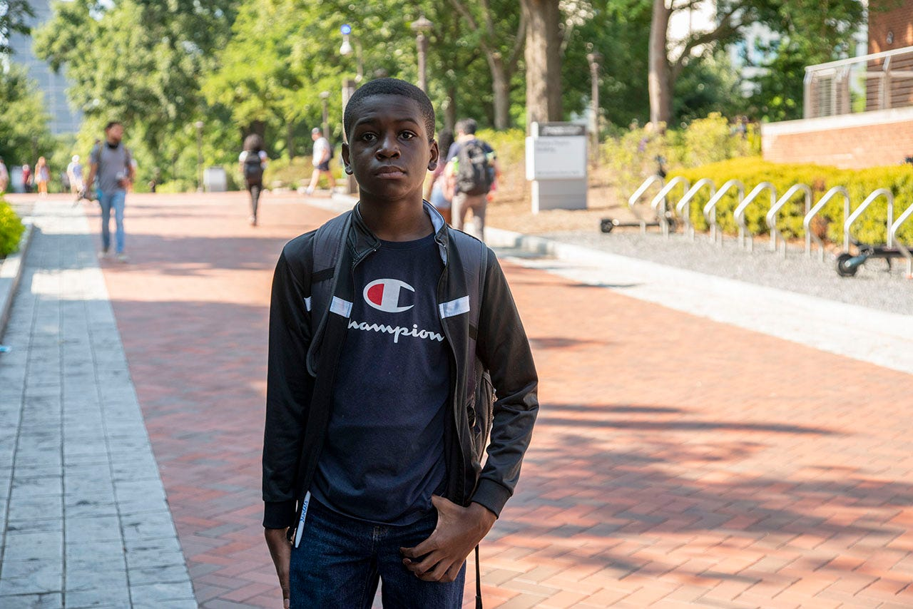 Caleb Anderson is studying aerospace engineering at Georgia Tech. He s 13 years old.