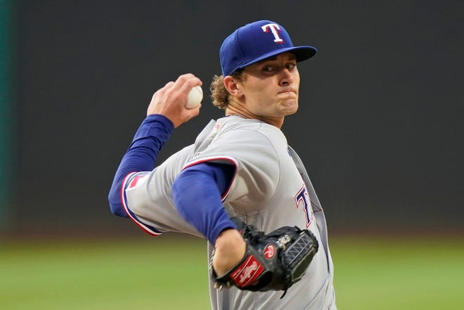 Jake Latz, a one-year member of the Kent State baseball program, made his Major League debut on Wednesday as the starting pitcher for the Texas Rangers against Cleveland.