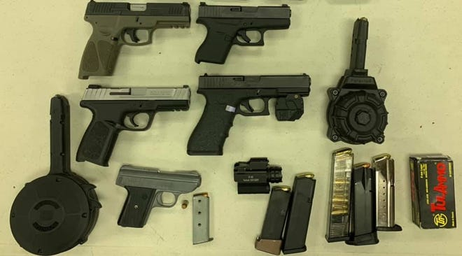 These weapons and ammunition were seized during an Aug. 25 traffic stop in the Town of Estill.