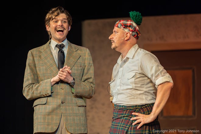 """Trevor Rettell and Matt Kwiatkowski are two of the actors that make up half of the cast of more than 150 roles in """"The 39 Steps,"""" a production by The Northland Players."""