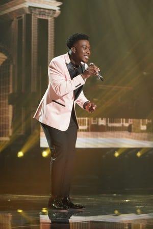 "Deshawn Goncalves performing on ""American Idol"" earlier this year."