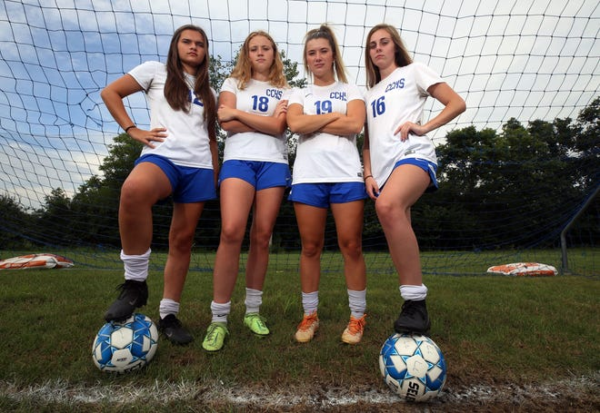 The Central Crossing girls soccer program has four seniors who have started since their freshman season. They are (from left) Emily Chatfield, Kate Henry, Georgia Lakso and Christa Phillips. Phillips won't play this season because of a knee injury.