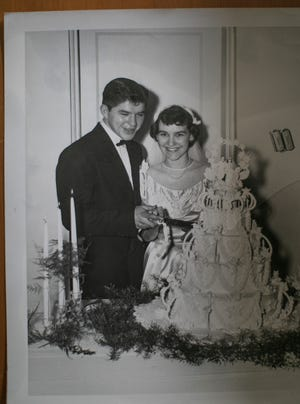 """Marilyn Plank and her husband, William """"Willie"""" Plank, owner of Planks Bier Garten on South High Street in the Brewery District, (shown here in their wedding photo) paid the city of Columbus a security deposit for electric service in 1953 and never received the money back because they didn't ask the city for it. An investigation by The Dispatch found the city Division of Power is now holding security deposits on more than 8,400 active accounts totaling $1.58 million."""