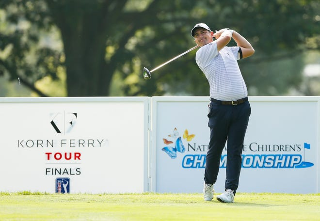 Justin Lower of Canal Fulton shot a 4-under-par 67 on Thursday that put him near the top of the leaderboard at the Nationwide Children's Hospital Championship.
