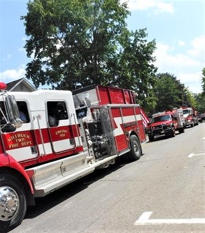 Fire trucks will be featured in the parade at Killbuck Early American Days as first responders are being recognized this year at the annual event.