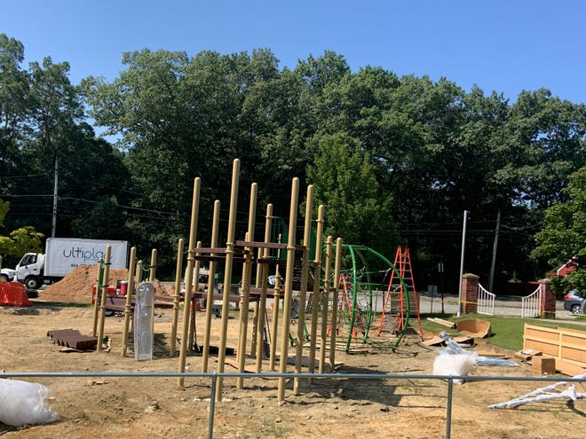 Hubbardston officials say the new playground at Curtis Recreation Field will be put together in two parts due to the size of the equipment.