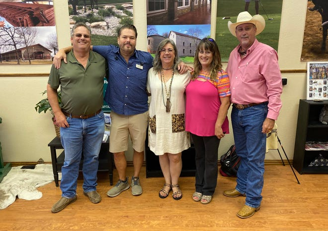From left: Somervell County Commissioner Dwayne Johnson, Glen Rose City Councilman Chip Joslin, Glen Rose City Councilwoman and GRSCCVB Director Kelly Harris, Somervell County Commissioner Tammy Ray and Somervell County Commissioner Jeff Harris celebrate the grand re-opening of the newly named Glen Rose Somervell County Convention and Visitors Bureau on Friday afternoon. Through an interlocal agreement, the county will take over the CVB and receive the hotel occupancy tax of $250,00-$350,000 a year from the city. The city will provide the building to the county rent-free as well as pay for insurance and major repairs defined as any repair cost that would be covered under the city's insurance policy minus the deductible. The county will pay for any minor maintenance and repairs, and utility costs.