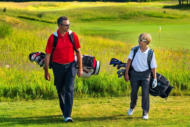 Golf often provides an opportunity for family members to spend time together.