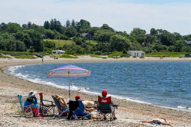 The Rhode Island Department of Health says it's OK to swim again at Fogland Beach in Tiverton because bacteria counts have fallen.