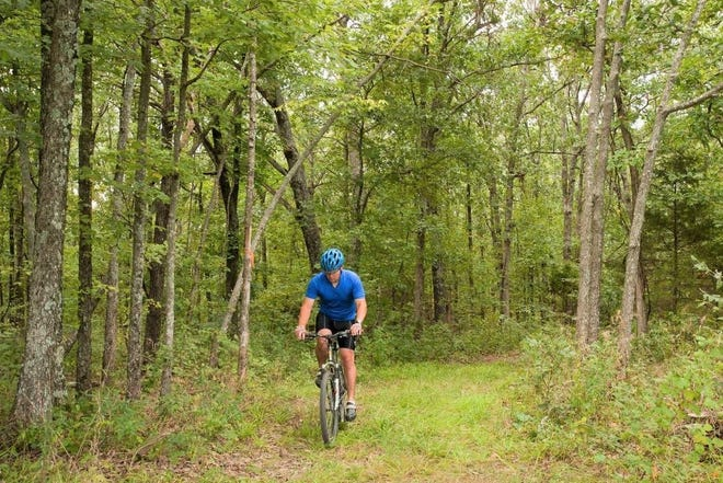 People can get information about scenic bicycling trails in southwest Missouri at a free virtual Missouri Department of Conservation program on Sept. 1.