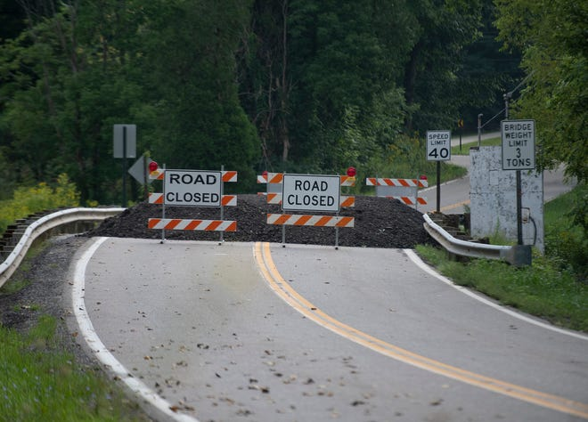 A Newton Falls Road bridge in Ravenna Township is closed due to erosion damage from a stream below until  the second half of 2022, when the Portage County Engineers Office says it plans on having a new bridge constructed.