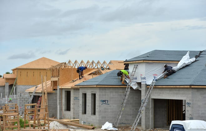 New homes under construction in Skye Ranch. Skye Ranch is a new residential development on Lorraine Rd., which has been extended south of Clark Rd. in Sarasota, Florida. When built out, the 1,000 acre community will consist of 1,200 single family homes and 360 townhomes.