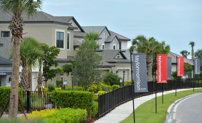 Taylor Morrison model homes at Skye Ranch, a new residential development east of I-75 at Lorraine Rd. and Clark Rd.