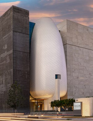The main entrance of the new Museum of the American Arts and Crafts Movement in downtown St. Petersburg