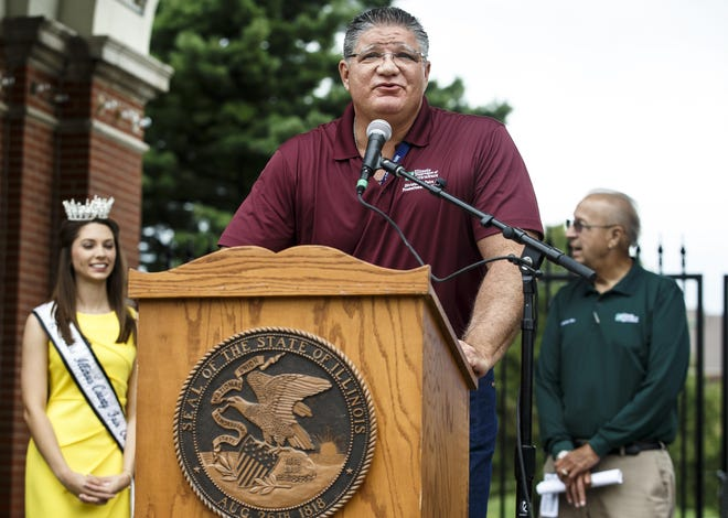 Kevin Gordon, who is retiring as Illinois State Fair manager.