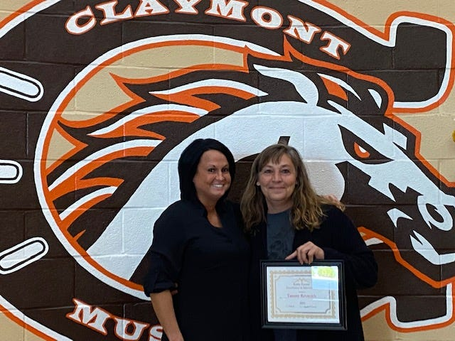 The Claymont City Schools Special Education Departmentrecently awarded Tammy Reynolds with thefirstExcellencein Intervention Award.