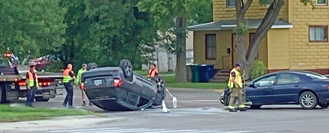 A vehicle rolled Thursday morning in a two-vehicle crash at the corner of First Avenue North and U.S. Highway 81. The crash was about 7 a.m. Nobody was injured, but both drivers had to be evacuated from their vehicles by first responders, according to information from the Watertown Police Department. The crash is under investigation.