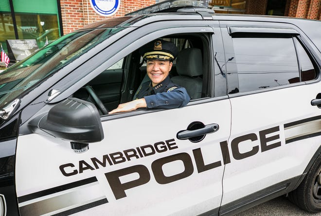 Christine Elow, a 26-year veteran of the Cambridge Police Department, has taken over as interim commissioner with the departure of Branville Bard.