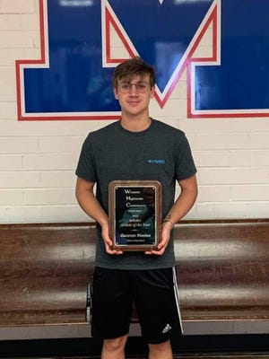 Gannon Kooles, a 2021 Madison High School graduate, was awarded the 2021 Western Highlands Conference Scholar-Athlete of the Year.