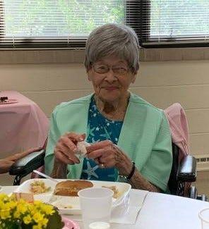 Hazel Schrock celebrated her 100th birthday in Green Springs.