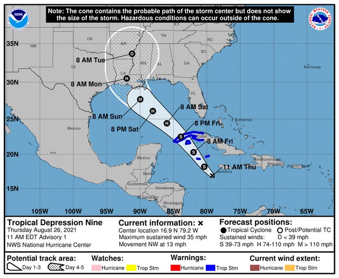 The National Hurricane Center has issued an advisory for a tropical depression developing below the Gulf of Mexico. It could strengthen into a tropical depression and take aim at Louisiana.