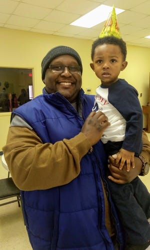 Michael Mason and his son Maxwell Mason.