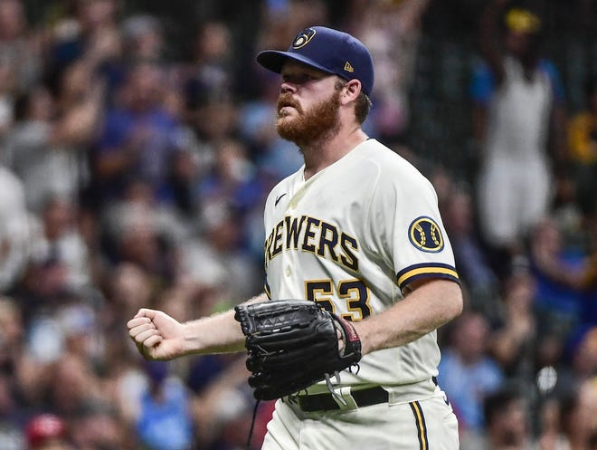 Brewers starting pitcher Brandon Woodruff tossed six dominant shutout innings of four hit ball with 10 strikeouts against the Reds on Wednesday.