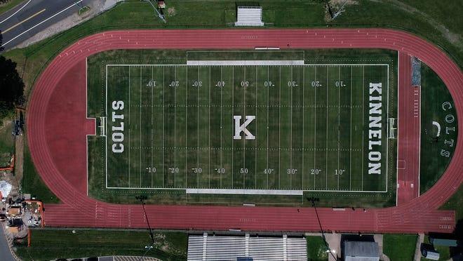 Kinnelon High School replaced their grass field for a turf in Kinnelon, N.J. on Thursday Aug. 26, 2021.