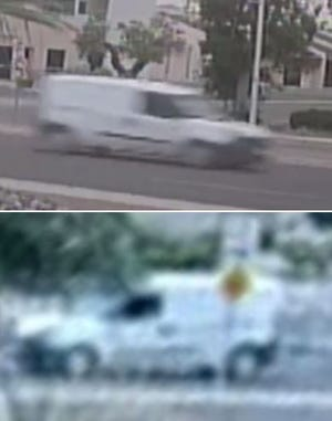 Las Cruces police believe the driver of a white Ford Transports minivan, similar to this one, was a witness to a shooting on Lohman Avenue on Monday, Aug. 16, 2021.