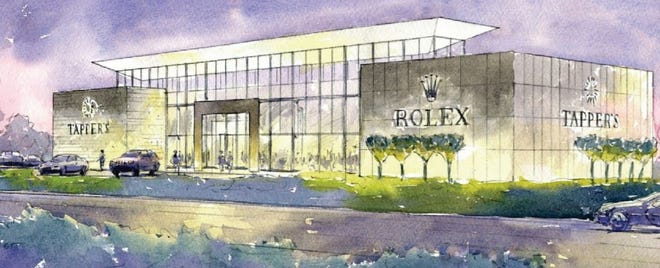 A rendering of the proposed Tapper's Jewelry shop planned at the corner of Eight Mile and Haggerty in Novi.  The shop would sit on the property that Big Boy formerly operated on near Interstate 275.