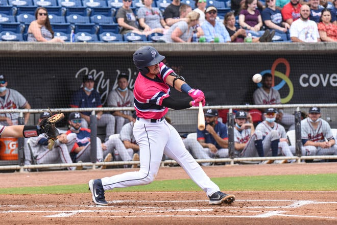 The Blue Wahoos, shown facing the Mississippi Braves earlier this season in Pensacola, had the remainder of their road series against the M-Braves postponed on Thursday.