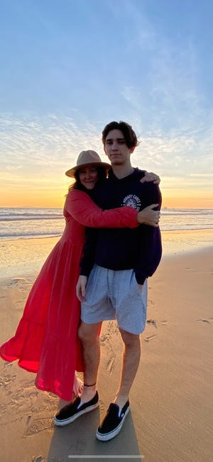 Drake Cluff has a role model in his mom Elizabeth, who has courageously battled cancer for most his upbringing. Photo courtesy of Cluff family