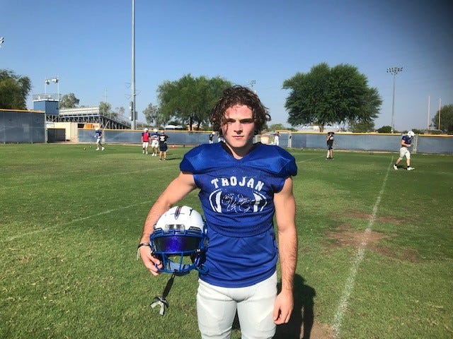 Valley Christian senior wide receiver Austyn Gerard had nine TDs in the first three games in 2020, before suffering a season-ending knee injury. Richard Obert