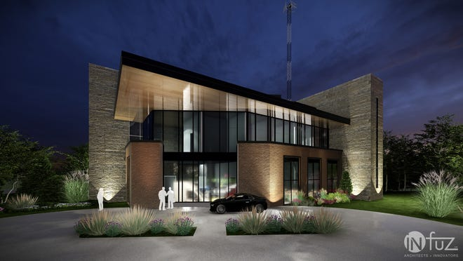 Early concept drawings not yet finalized of the EDA Business Center.