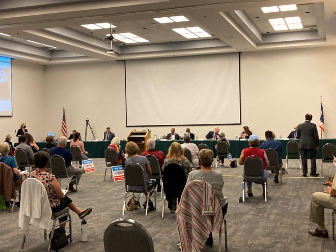 The seven-member Ohio Redistricting Commission met for a public hearing at Ohio University Zanesville on Wednesday. Over a dozen people spoke about how to fairly redraw legislative districts, with some mentioning gerrymandering as a persistent issue in Ohio Statehouse and U.S. congressional legislative boundaries.