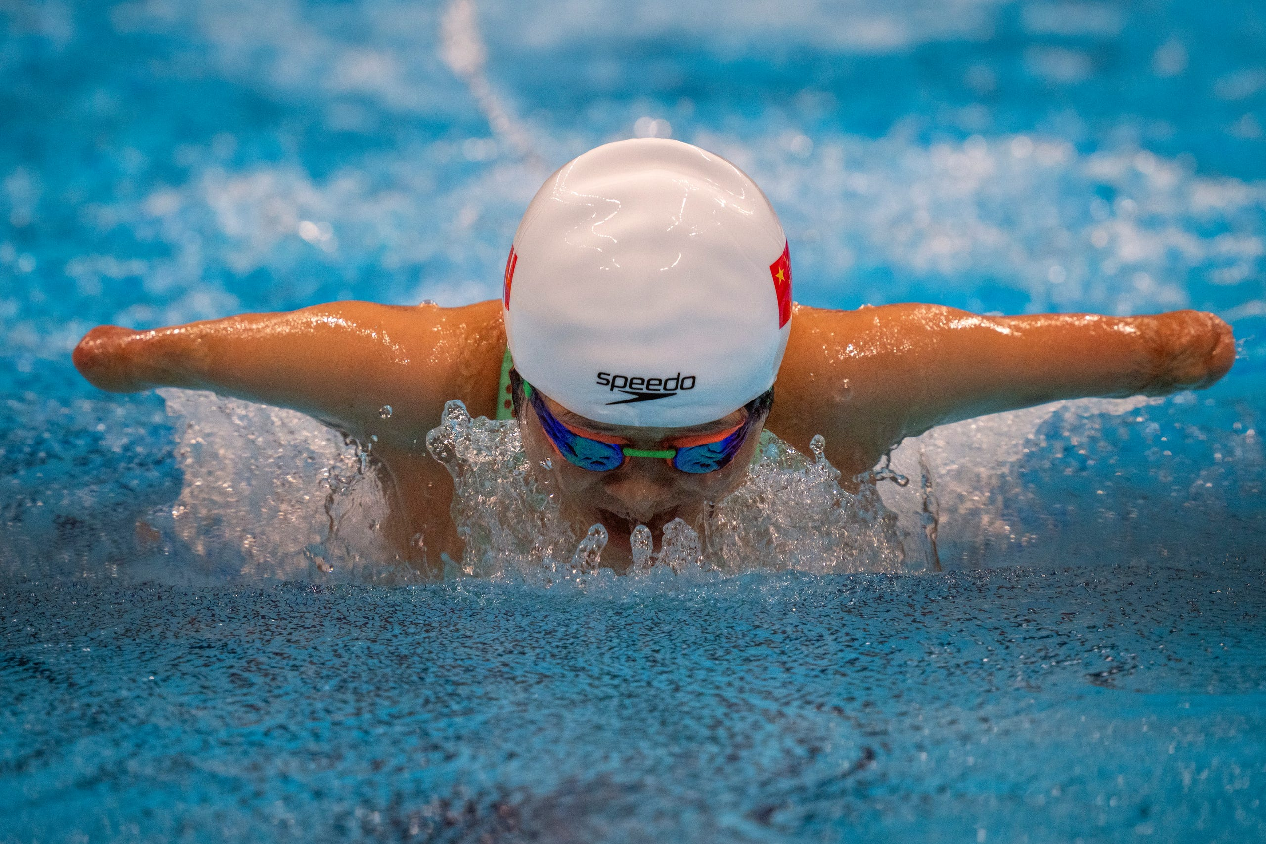 August 26, 2021:  Daomin Liu competes at Women's 200m Individual Medley - SM6 Heat 1 at the Tokyo Aquatics Centre during the Tokyo 2020 Paralympic Games.