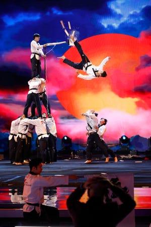 "Golden Buzzer winner World Taekwondo Demo Team performs on ""America's Got Talent."""