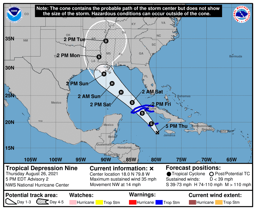 Hurricane watches issued for Gulf Coast states as forecasters warnTropical Storm Ida could be strongest storm of the season