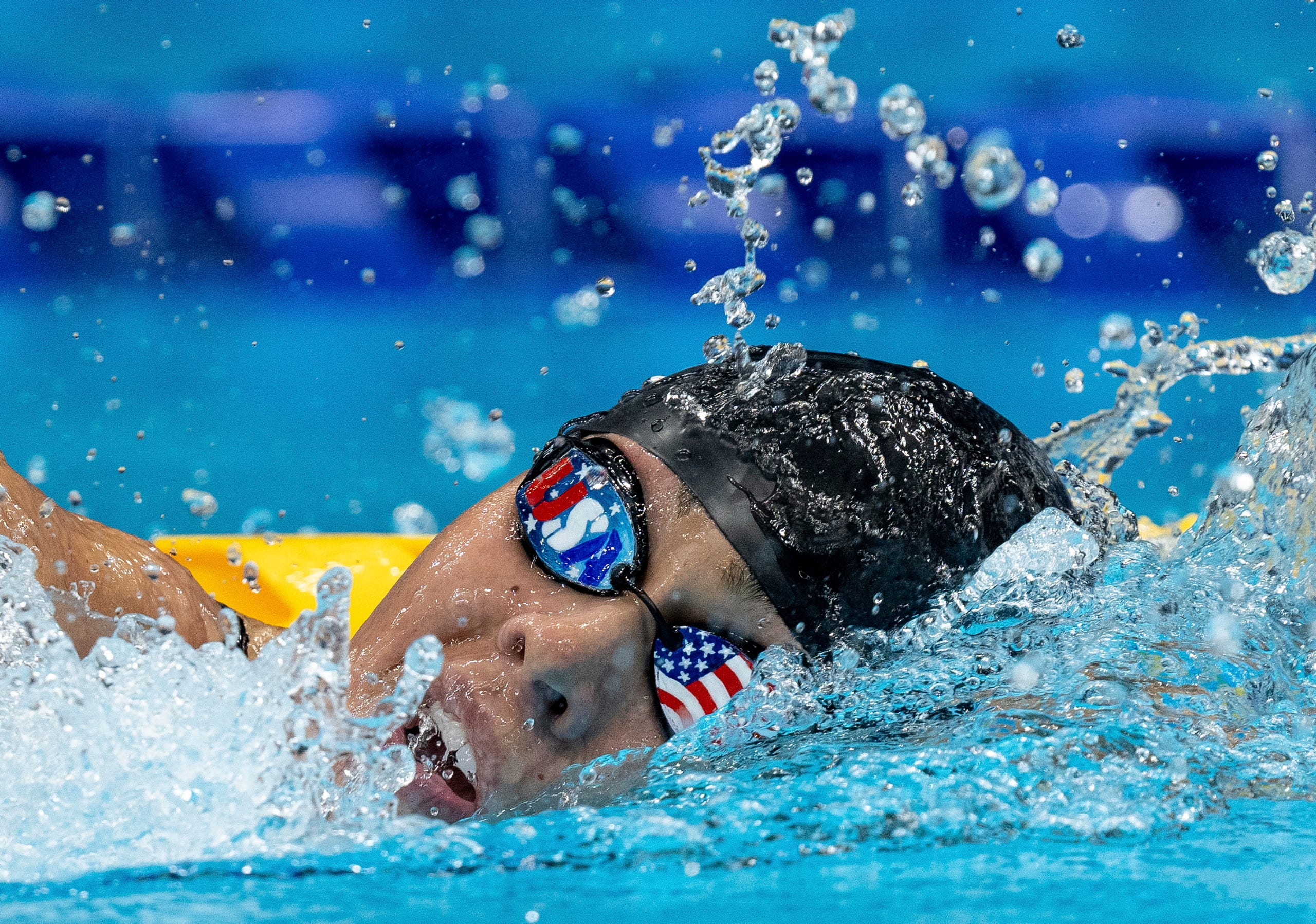 August 26, 2021: USA's Anastasia Pagonis competes in the Women's 400m Freestyle S11 Swimming Final during the Tokyo 2020 Paralympic Games in Tokyo.