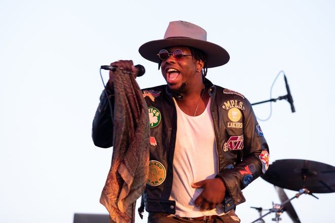 Sam Houston of Blk Odyssey performs for the Love & Lightstream Drive-In Concert Series on Oct. 24, 2020.